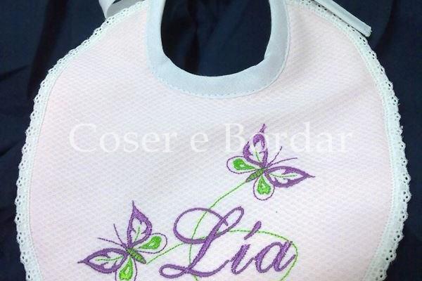 2 Baberos Con Diseño De Mariposa Personalizada bebé Baberos Para Dos Niñas